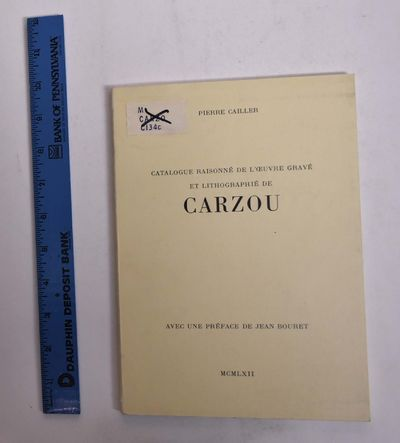 : Pierre Cailler, 1962. Paperback. VG-. Ex-library with usual marks. Some aging/soiling to covers. C...