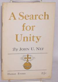 A search for unity; the basis of world community