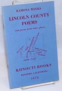 image of Lincoln County Poems and poems from other places