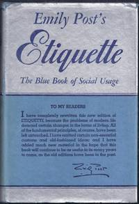 image of Emily Post's Etiquette. The Blue Book of Social Usage. New Edition Completely Revised [1950]