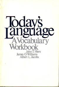 image of Today's Language - A Volcabulary Workbook