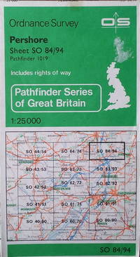 Pershore Pathfinder sheet SO 84/94 by Ordnance Survey - Scale 1:25,000 - 1986 - from Acanthophyllum Books and Biblio.com