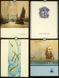 Cunard White Star Four Menus for May 1950