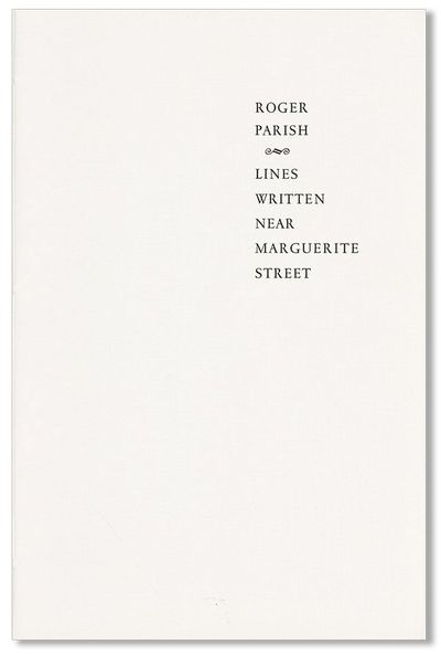 Northfield, MN: Red Dragonfly Press, 2006. First Edition. Limited to 130 copies. Octavo (21.5cm.); p...