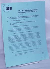 image of Transgender Legal Issues: an overview of selected issues