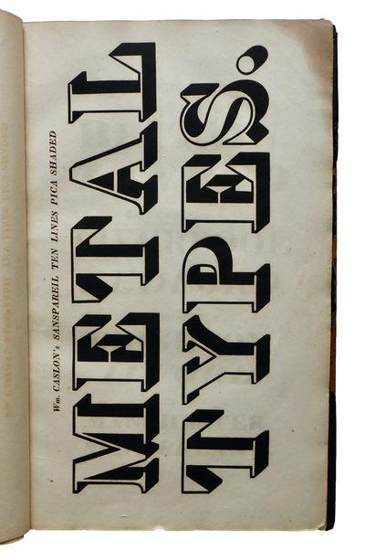 A Specimen of Printing Types