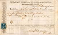 1865 Railroad receipt from the New-York Central Railroad Company