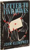 View Image 2 of 2 for Letter to Five Wives (First UK Edition) Inventory #133506