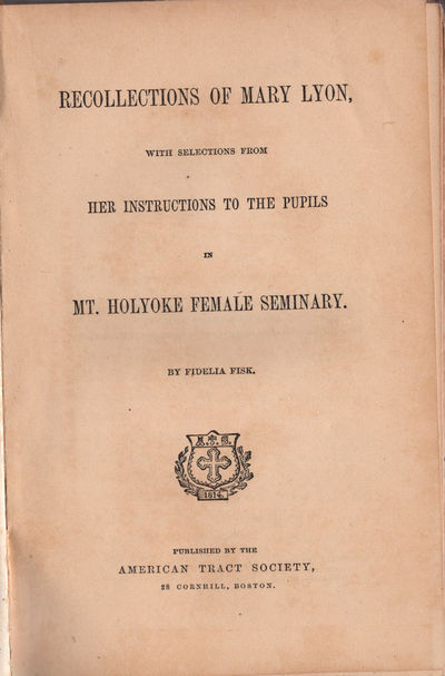 Boston: American Tract Society, (1866). 12mo (19.2 cm; 7.5