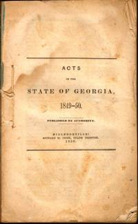 Acts of the State of Georgia, 1849-50