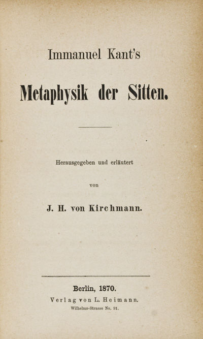 Berlin: L. Heimann, 1870. Hardcover. g. 2 volumes in one. Ex library. Sm. 8vo. ix,351pp. 152pp. Half...
