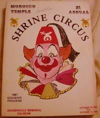 Morocco Temple 21 Annual Shrine Circus 1981 Souvenir Program