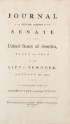 View Image 1 of 2 for Journal of the Second Session of the Senate of the United States of America, begun and held at the C... Inventory #38217