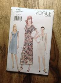 image of Vogue Sewing Pattern: 9844: EASY: Misses' A-line Dress w/Neck Variations: Sizes: 14-16-18