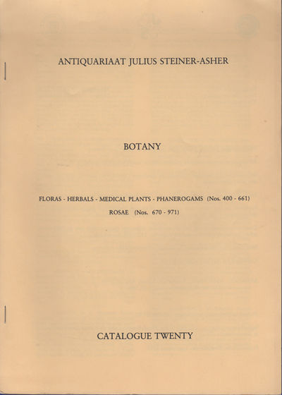 Amsterdam: Antiquariaat Julius Steiner-Asher, 1992. First edition. Stapled paper wrappers. A very go...