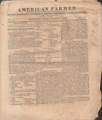 American Farmer Newspaper Vol. III No. 25, 26, 49, 50 1822
