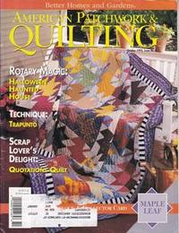 BETTER HOMES AND GARDENS AMERICAN PATCHWORK & QUILTING Magazine October 1993 Issue No. 4...