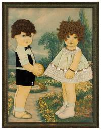 Late Nineteenth Century American Folk Art Portrait of a Boy and Girl
