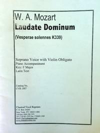 W. A. Mozart. Laudate Dominum (Versperae solennes K339) Soprano Voice with Violin Obligato Piano...