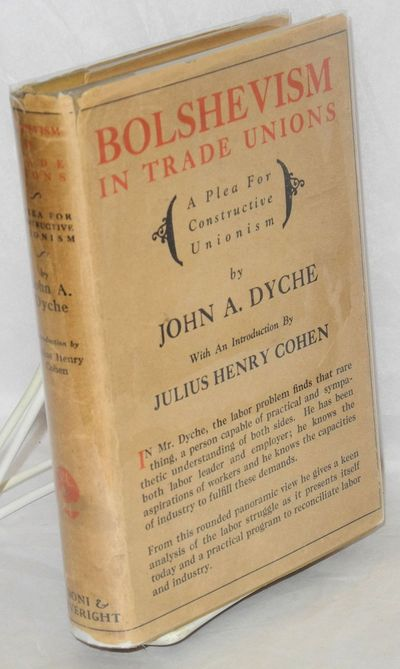 New York: Boni & Liveright, 1926. 224p., first edition, inscribed by Dyche to Louis Marshall, dj rep...