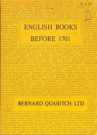 Catalogue 1034/1983: English Books before 1701.