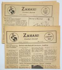 image of Zamani! Freedom's Journal [two issues: Vol. 3 nos. 7 and 9]