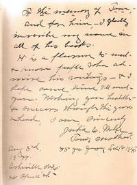 The Web and the Rock Inscribed by Thomas Wolfe