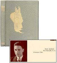 Williamstown MA: Williams College, 1930. Hardcover. Very Good. First and only edition. Quarto. Light...