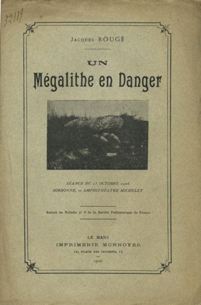 Le Mans, France: Imprimerie Monnoyer, 1906. Offprint. Paper wrappers. A very good- copy with detache...