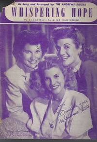 Whispering Hope (Andrews Sisters Cover Photo)