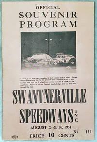 image of Official Souvenir Program, Swantnerville Speedways, Inc., August 25 & 26, 1951
