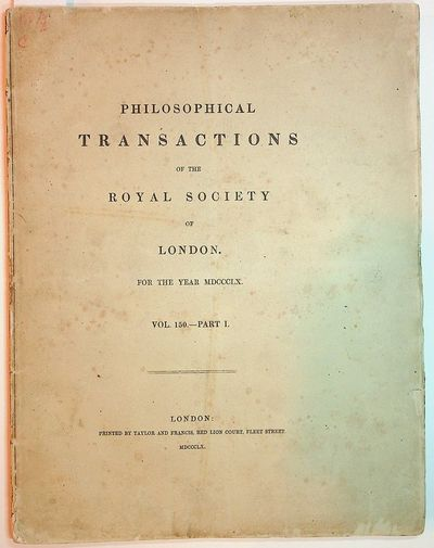 London: Taylor and Francis, 1860. First Edition. Wraps. Near Fine. First Edition. ,1-184 pages + 6 p...