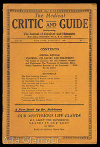 THE MEDICAL CRITIC AND GUIDE; Incorporation The Journal of Sexology and Humanity