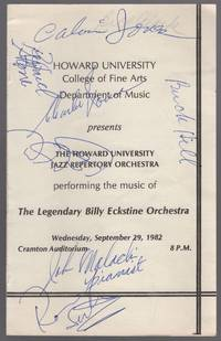 [Program]: Howard University College of Fine Arts Department of Music Presents The Howard University Jazz Repertory Orchestra performing the Music of The Legendary Billy Eckstine Orchestra