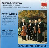 image of Quartet No. 2 (Schoenberg); Six Bagatelles (Webern); Quartet (Berg)  [COMPACT DISC]