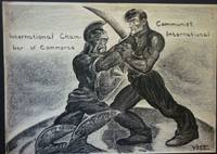 "Original Cartoon Artwork, ""International Chamber of Commerce Vs Communist  International"" by Vose - 1920s - from Beasley Books (SKU: 26737)"