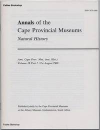 ANNALS OF THE CAPE PROVINCIAL MUSEUMS. Volume 18. Part 2.