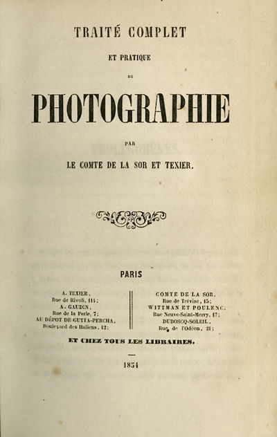 Paris: A. Texier, 1854. First edition. 12mo., 235 pp. Contemporary quarter morocco gilt and marbled ...