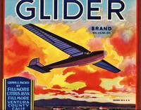 image of Original Orange Crate Label for Glider Brand