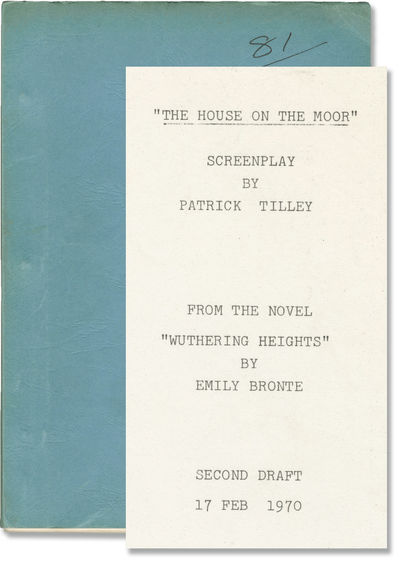 London: American International Pictures , 1970. Second Draft script for the 1970 film, here under th...