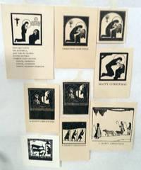 Nine Assorted Christmas Theme Wood Cuts