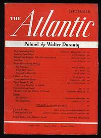 Boston: Atlantic Monthly, 1939. Softcover. Fine. Vol. 164, no. 3. Fine in very good, rubbed wrappers...