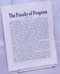 The penalty of progress