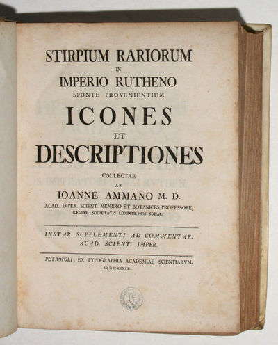 St. Petersburg: Academia Scientiarum, 1739. Two important and generously illustrated botanical works...