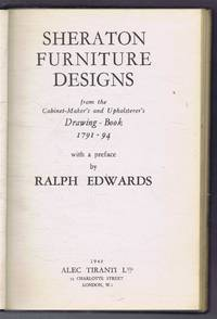image of Sheraton Furniture Designs from the Cabinet Maker's and Upholsterer's Drawing - Book 1791 - 94