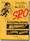 """Original promotional folder for a """"package"""" of Notorious (1946) and The Farmer's Daughter (1947)"""