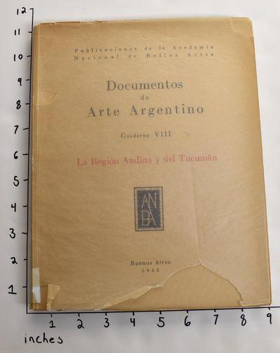Buenos Aires: Publicaciones de la Academia Nacional de Bellas Artes, 1943. Paperback. Good. Shelf we...