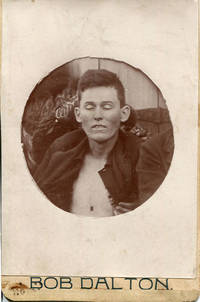 image of PHOTOGRAPHS - - - THE DALTON GANG MEMBERS IN DEATH .. KILLED DURING THE ATTEMPTED SIMULTANEOUS ROBBERY OF TWO BANKS IN COFFEYVILLE, KANSAS ... OCTOBER 5, 1892