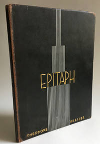 Epitaph, A Poem. [Signed ltd edition]