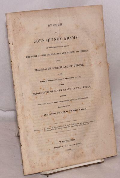 Washington: Gales and Seaton, 1838. 131p., disbound, sewn, slightly edge worn, foxing.
